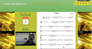 PARTITURAS A TU DISPOSICIÓN: YELLOW (COLDPLAY)