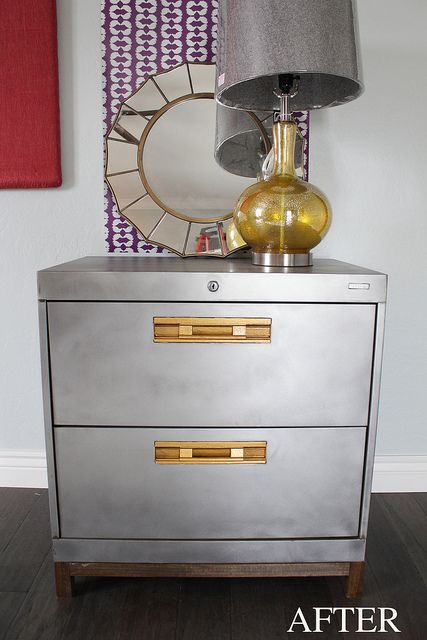 filing cabinet made into nightstand