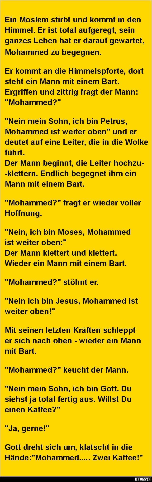 Ein Moslem stirbt und kommt in den Himmel.. | Lustige Bilder, Sprüche, Witze, echt lustig