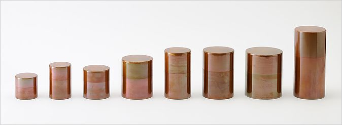 Kaikado tea canisters in copper