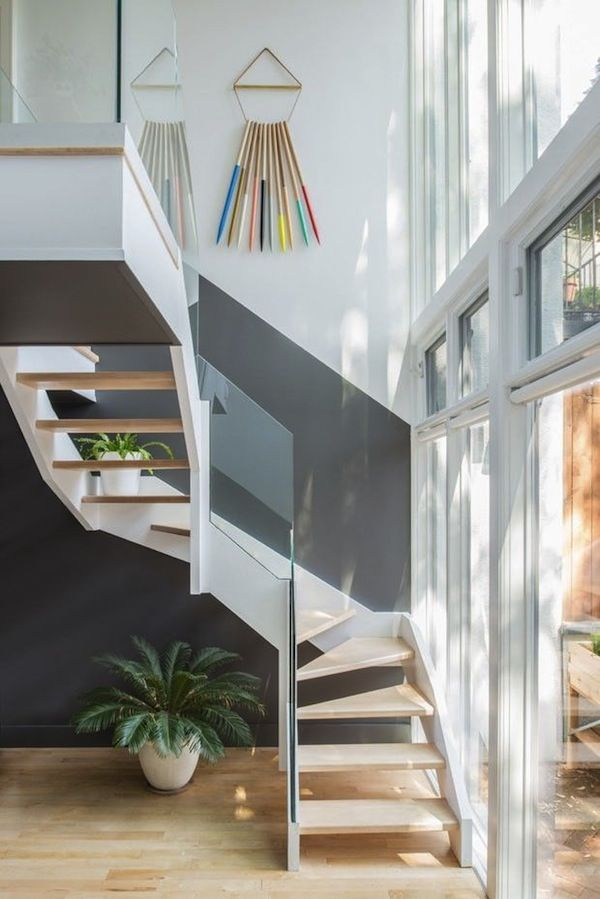 Home // A Colorful Brooklyn Abode – modern stairway