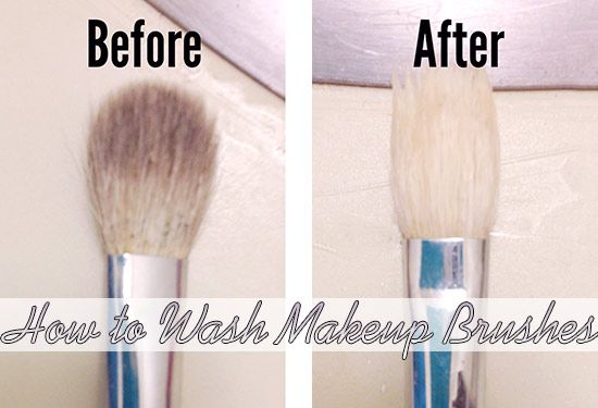 How to wash makeup brushes with olive oil and dish soap. pin now, read later.