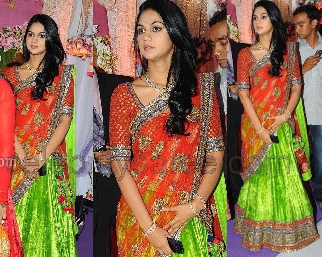 Sneha Reddy in Sabyasachi Half Saree | Saree Blouse Patterns