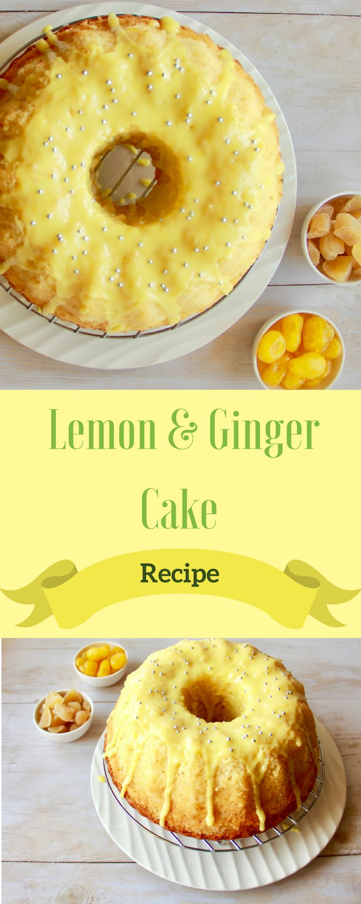 Recipe light and soft Lemon cake with a hint of ginger. A good option to serve with tea and coffee or as a dessert with some whipped cream