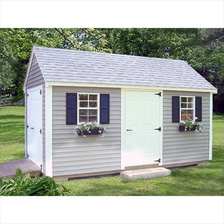 Reeds Ferry Historic Colonial-style Storage Shed. 10ft x 12ft with vinyl clapboard siding in choice of 16 colors, featuring a 5-foot wide double-door and 2 full sized windows with shutters. Shed delivered and built on your property by Reeds Ferry staff. Bid on this at http://auction.nhptv.org/