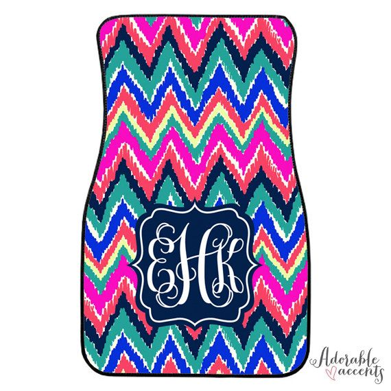Personalized Lilly Pulitzer Inspired Car Mats on Etsy, $72.95