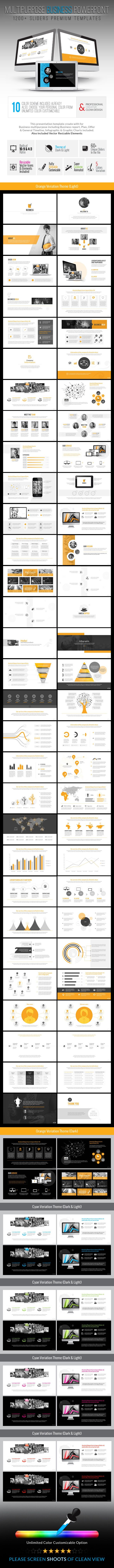 Business_Multipurpose Presentation Templates — Powerpoint PPTX #business #black • Available here → https://graphicriver.net/item/business_multipurpose-presentation-templates/8861964?ref=pxcr