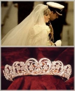 """The Spencer Tiara"" worn by Princess Diana on her wedding day."