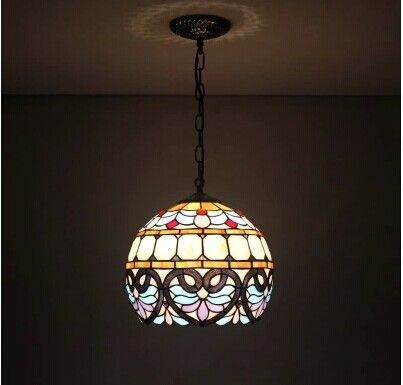 В 12 дюймов европейский тиффани люстра сферические неправильная корридор обучение ресторан дети комната освещение купить на AliExpress