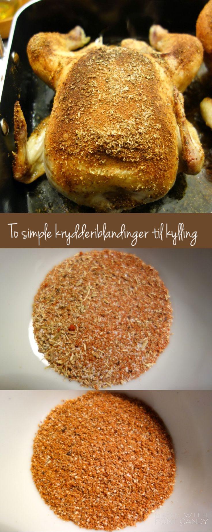 To simple og spicy krydderiblandinger til kylling i ovn