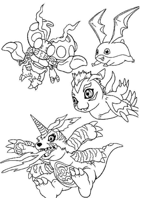 17 Best Images About Digimon Coloring Pages On Pinterest
