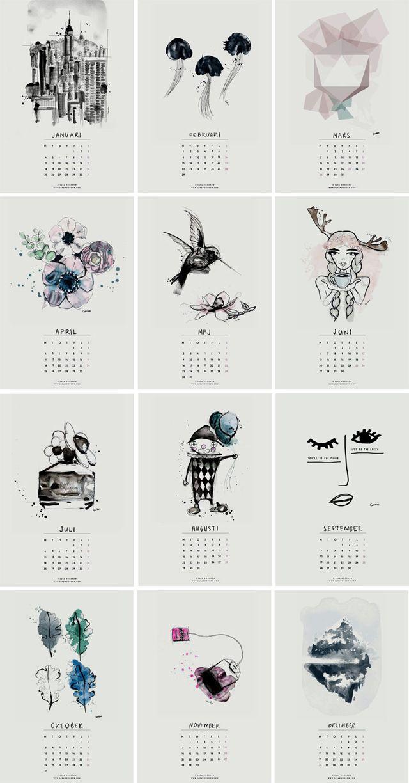 Calendar Illustration Ideas : Más de ideas increíbles sobre calendario para imprimir