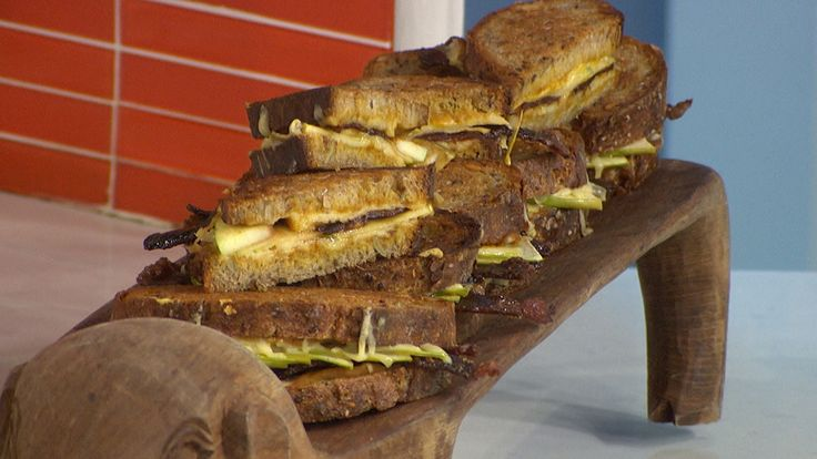 Candied bacon + pumpkin + grilled cheese = the best fall sandwich ever