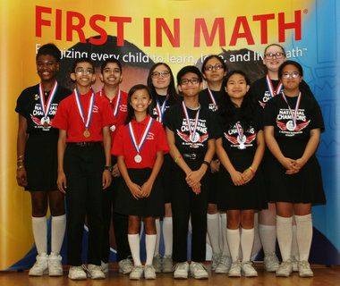 Students at St. Aloysius Elementary Academy in Jersey City have kept the school's First in Math winning streak alive.