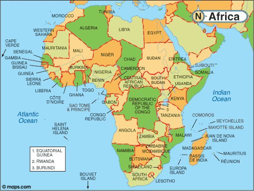 Map Of Africa With Facts Statistics And History Places I Want - Guinea bissau map quiz