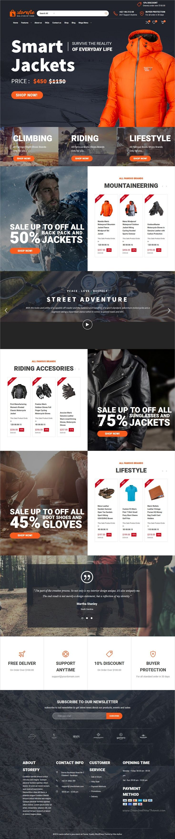 Storefie is a wonderful responsive #WordPress theme for high #conversion #eCommerce website download now➩ https://themeforest.net/item/storefie-high-converting-ecommerce-wordpress-theme/18908263?ref=Datasata