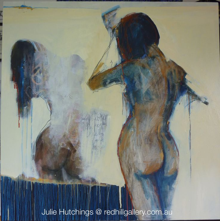 "Julie Hutchings figurative painting ""Land & Water. Red Hill Gallery, Brisbane. redhillgallery.com.au"