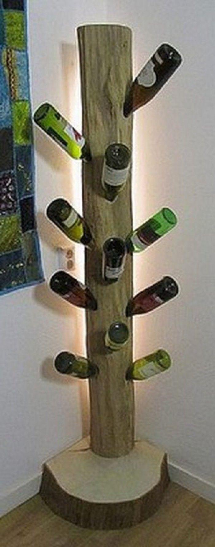 De handgemaakte wijnstamlamp van Inspired By Wood is een echte eyecatcher in ieder interieur!