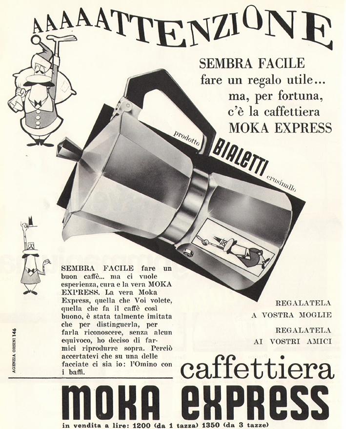 Aaaaaatenzione, ¡caffettiera Moka Express! Since 1933