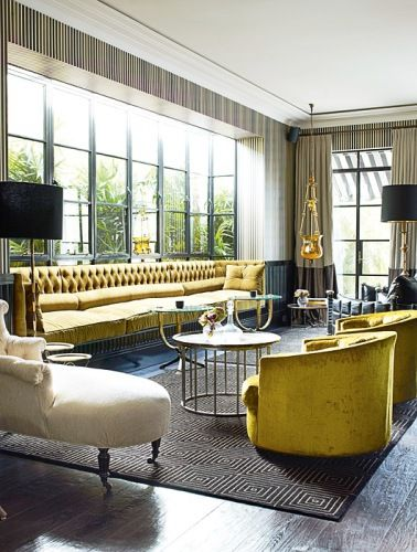 amazing tufted sofa: Interiors Idea, Design Homes, Living Rooms, Chairs, Design Interiors, Homes Decoration, Interiors Design Blog, Homes Interiors, Yellow Tufted Sofa