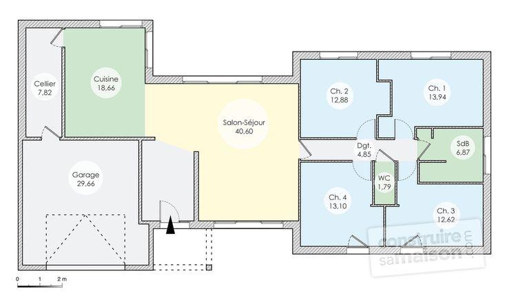 25 best ideas about maison plain pied on pinterest for Plan maison carree plein pied