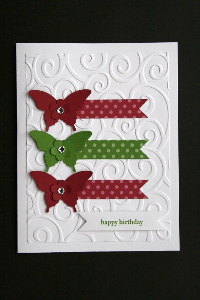"Card Kit-Elegant Butterflies ""Teeny Tiny Wishes"" All Occasion w/ Stampin Up prod 