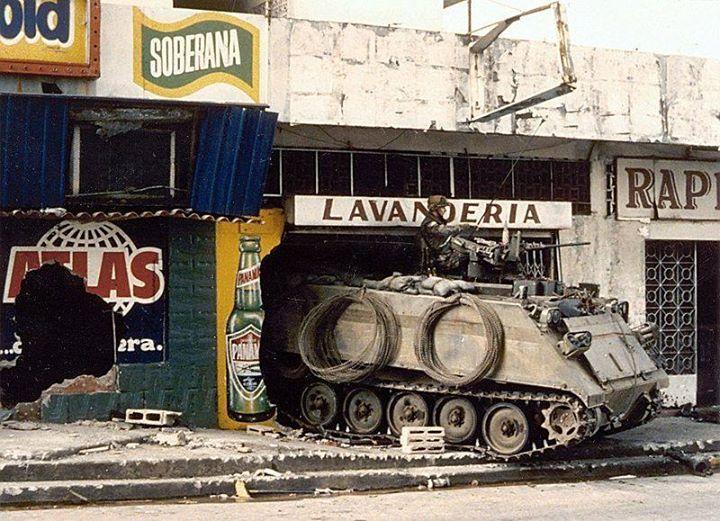 A U.S. Army M113 in Panama