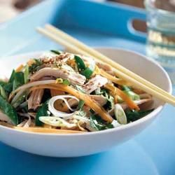 Drunken chicken noodle salad