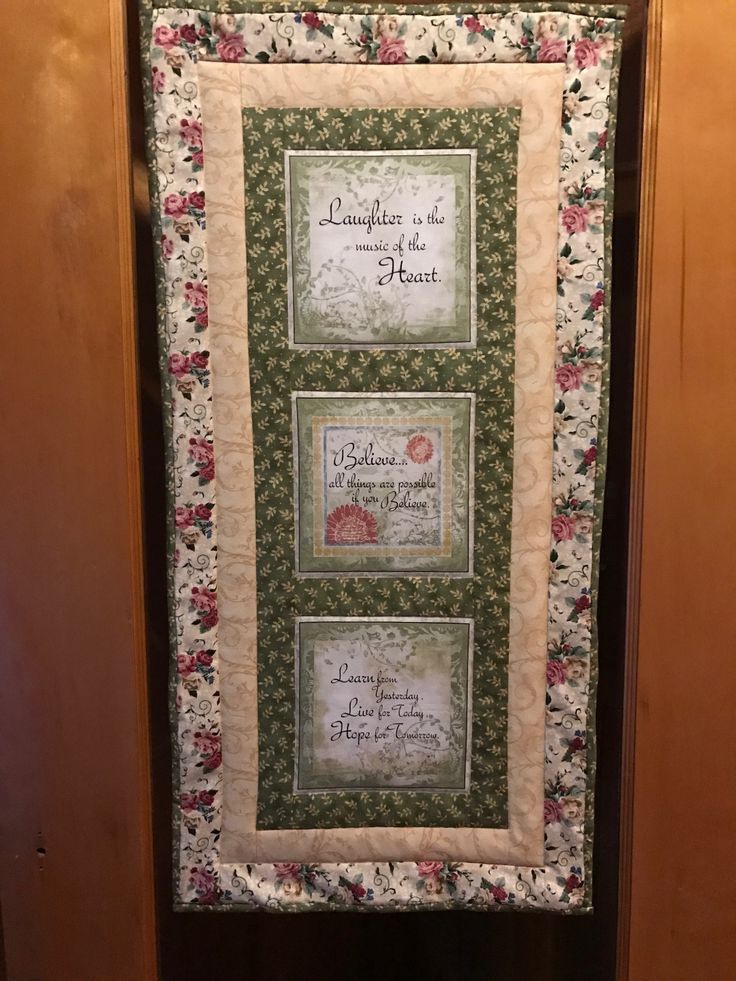 A panel made into a wall hanging at The Firelight Inn on
