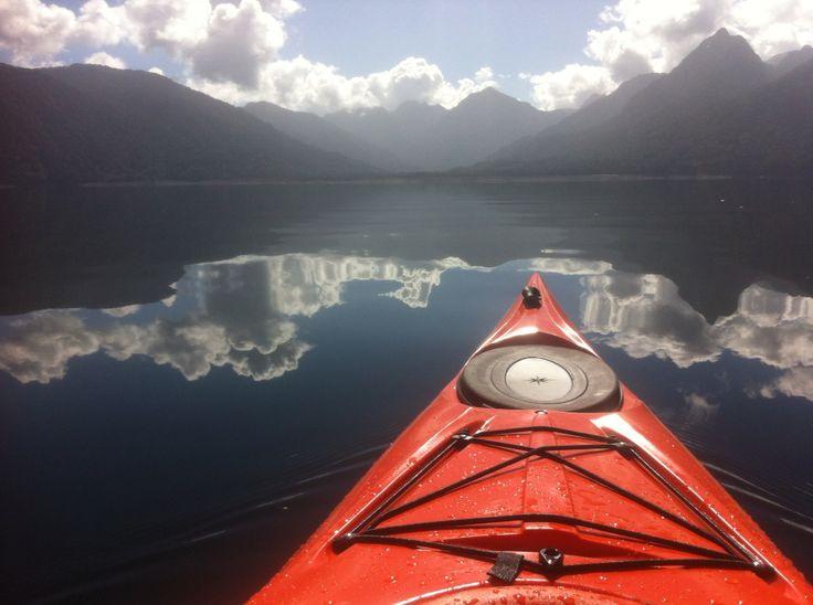 Kayaking. Lago Chapo, Puerto Montt, Chile.