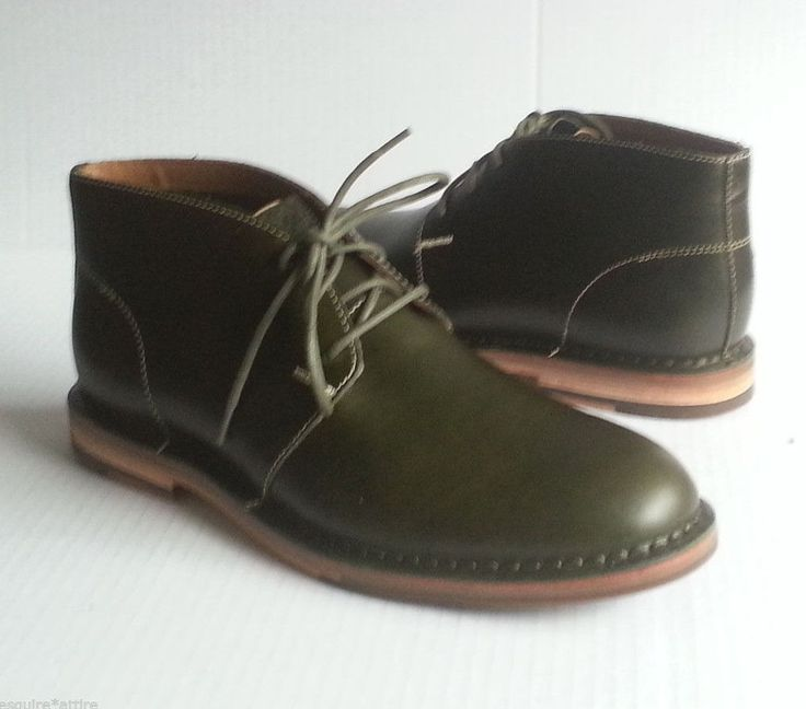 #ebay Cole Haan men boots size 9 M leather green color (Fatigue) GLENN CHUKKA ColeHaan withing our EBAY store at  http://stores.ebay.com/esquirestore