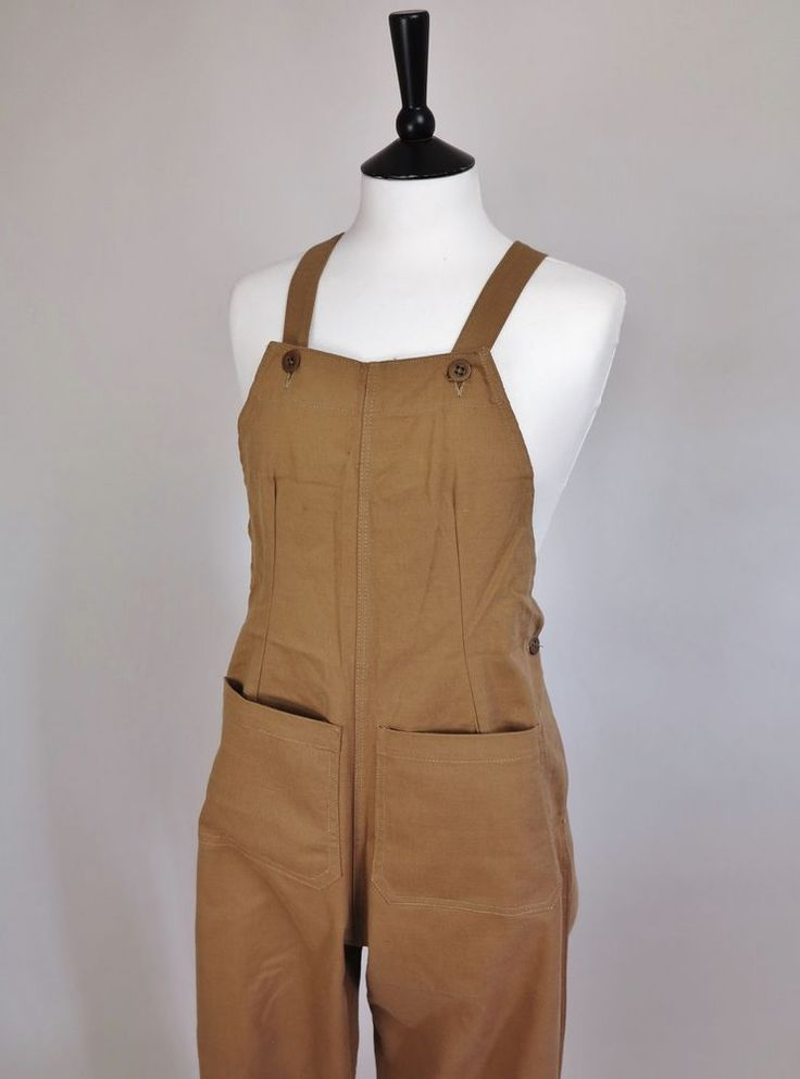 WLA Dungarees Women's Land Army WW2 Overalls 40's Dungarees WW2 Khakis 40's NOS!