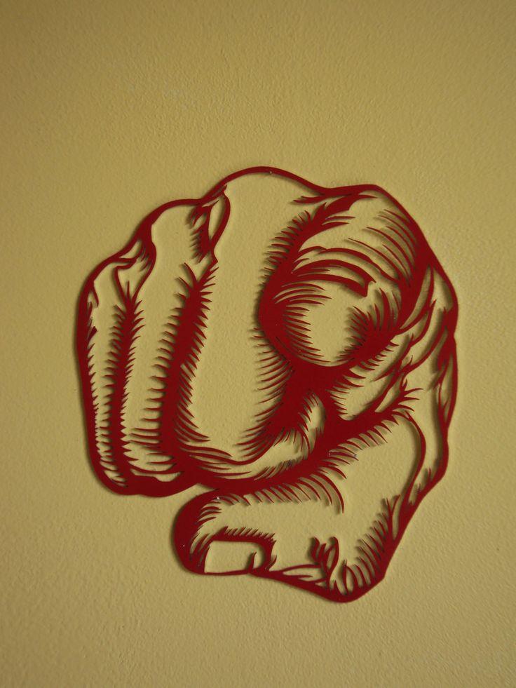 """Décoration murale """"poing fermé, doigt tendu"""" : Décorations murales par millerun"""