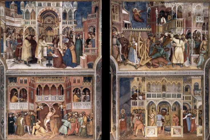 1378-1384 San Giorgio by Altichiero, frescos showing the life of Christ and the Virgin