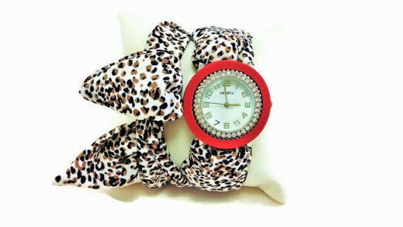 Wrap bracelet  Burgundy watch for women  by HarmonyHourWatches