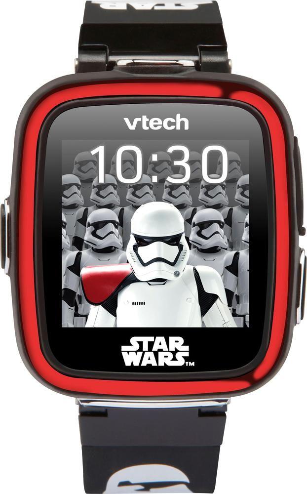 VTech - Kidizoom Star Wars Stormtrooper Smartwatch - Black/red