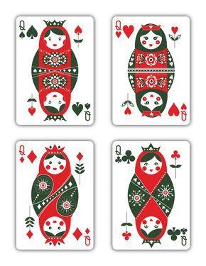Russian Folk Art Playing Cards - Printed by USPCC by Natalia Silva — Kickstarter