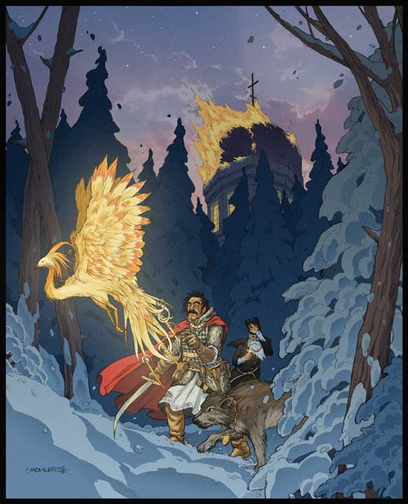 Mythic Russia by JerMohler (The Firebird is the Russian version of the Phoenix)