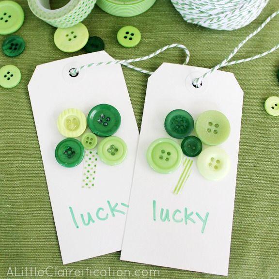 St Patricks Day Gift Tags - St. Patricks Day Crafts at ALittleClaireification.com #crafts #DIY #StPatricksDay