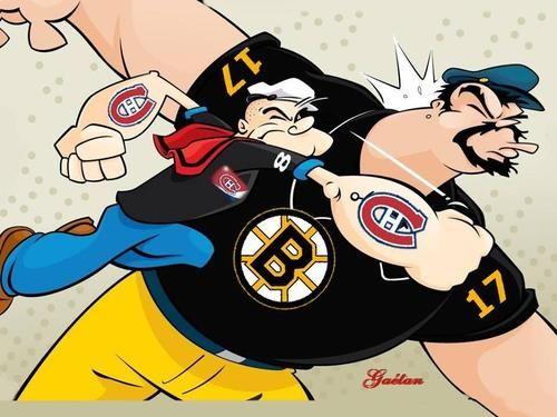 Montréal Canadiens  / Boston Bruins Series #2014 Love it!!!!