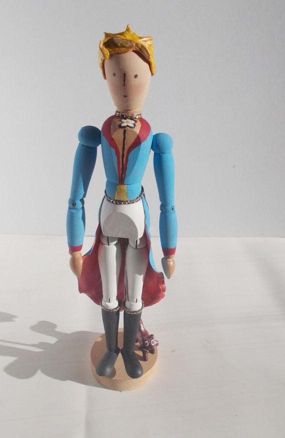 Art doll sculpture wooden figure Le petit prince by mademeathens  SOLD