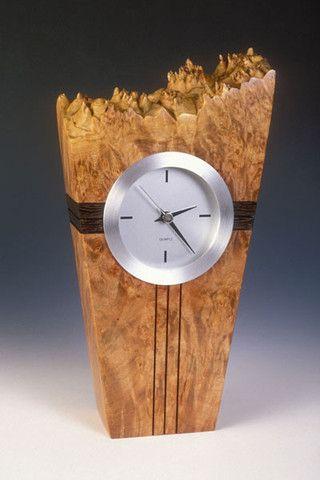 Howard Griffiths - Maple Burl & Wenge - Metro Clock | SattvaGallery.com