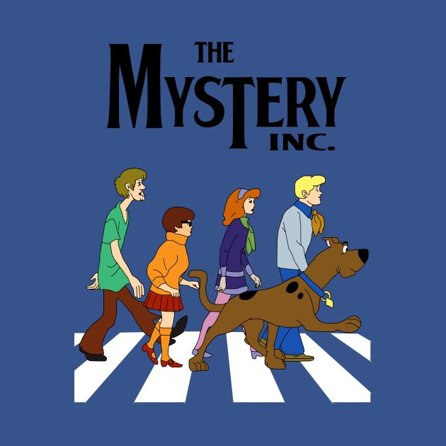 Awesome 'Scooby+Doo+Abbey+Road' design on TeePublic!