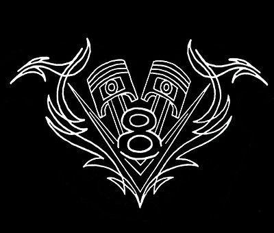 GearHead V8 Logo Pistons Pinstripe Vintage Rat Hot Rod Alley Car T ...