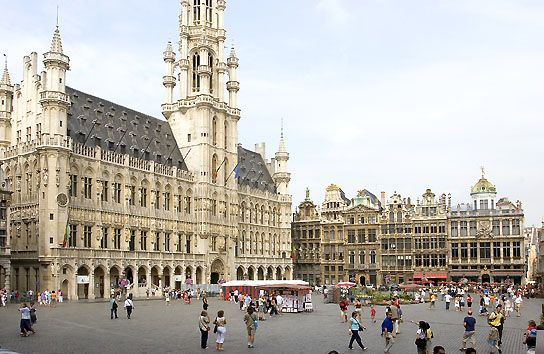 Brussels, Belgium - beer, waffles, and chocolate.  What's not to love?