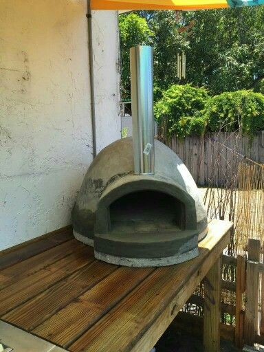 My $135 wood powered pizza oven