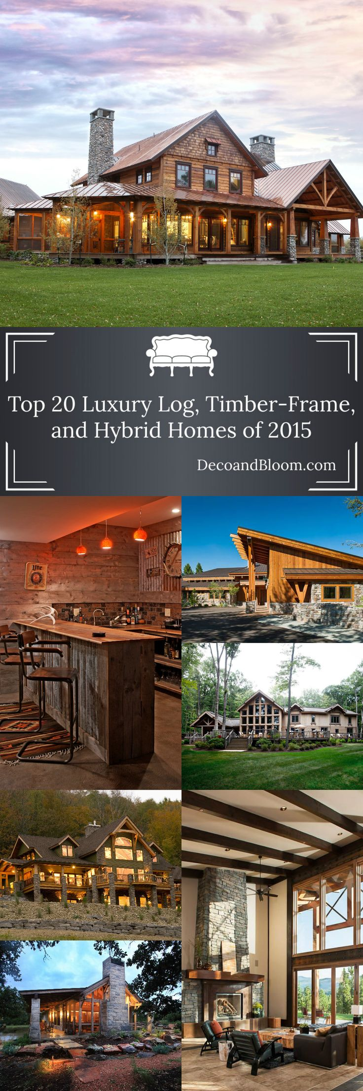 Your home for vacation amp prosperity - Top 20 Luxury Log Timber Frame And Hybrid Homes 2015 From The Home Decor