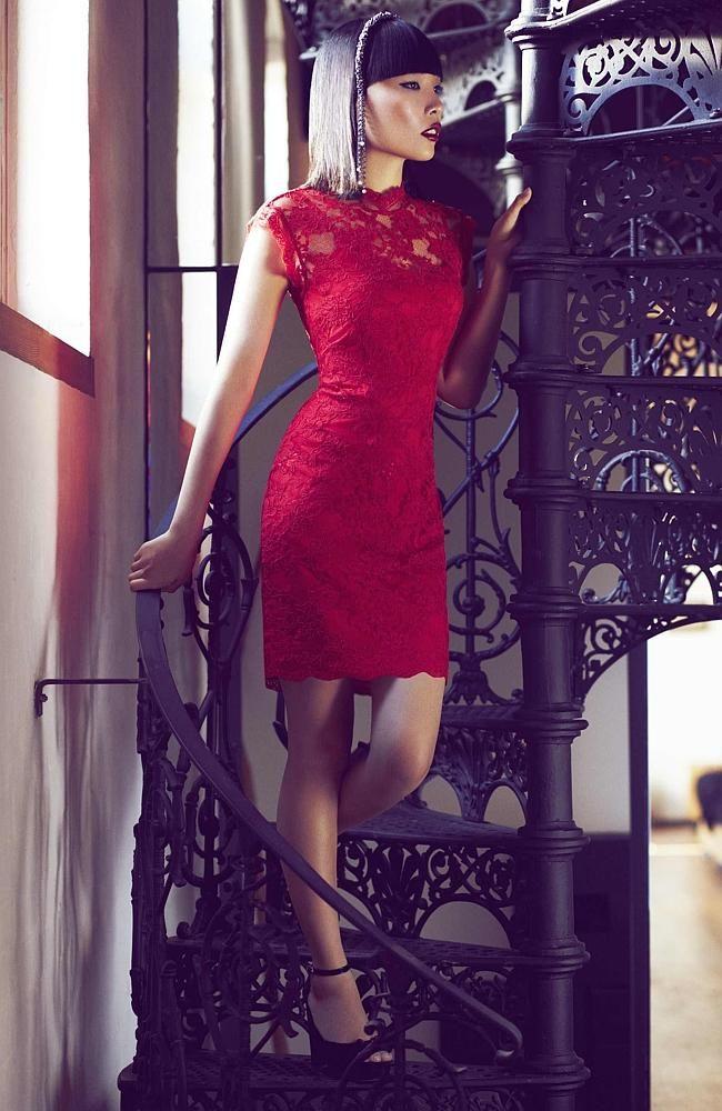 Dami modelling for Alannah Hill Fashion.