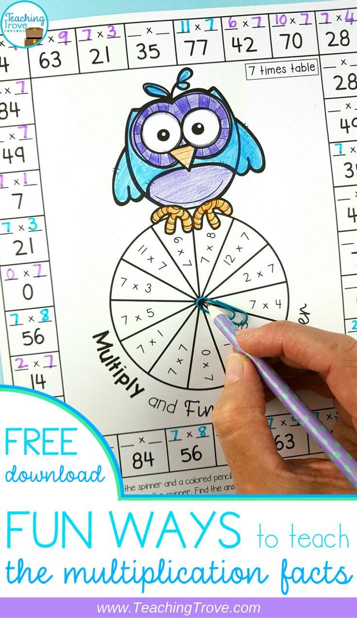 Workbooks learning multiplication facts worksheets : Best 25+ Multiplication facts worksheets ideas on Pinterest ...