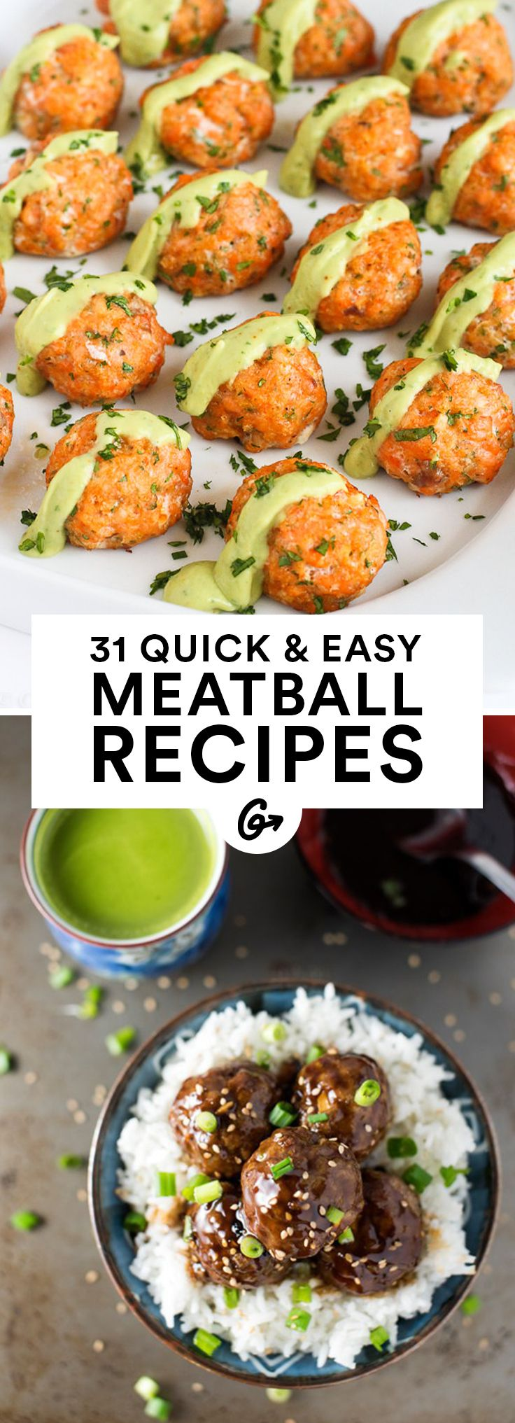 Enjoyed on top of spaghetti, stuffed into a sandwich, or passed as appetizers #recipes #healthy #meatballs http://greatist.com/eat/healthy-meatball-recipes